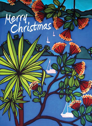 Chirstmas Card Jo May Cabbage Tree