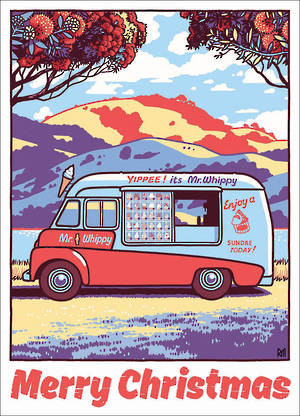 Chirstmas Card Ross Murray Mr Whippy