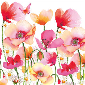 Lunch Paper Napkins Poppies & Daisies
