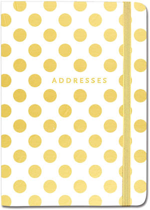 Address Book Gold Dots