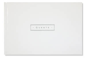 Guest Book White Leather