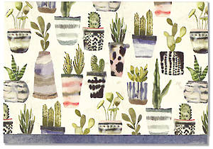 Box of 14 Notecards Watercolour Succulent