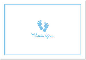 Box of 14 Notecards Baby Step Blue