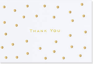 Box of 14 Notecards Gold Dots