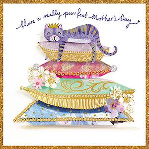Mother's Day Card Artisan Purrfect Day