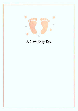 Baby Card Boy Cute Feeties