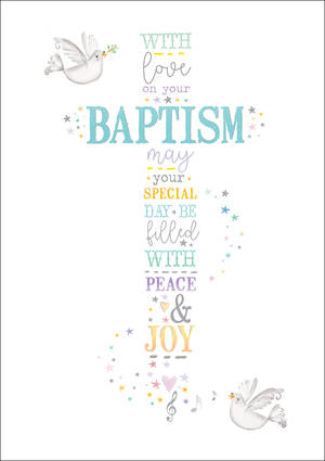 Baby Card Baptism With Love