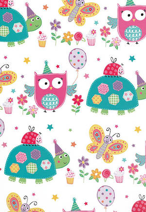 Folded Wrapping Paper Owls