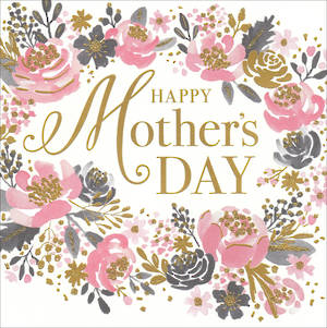 Mother's Day Card Happy Floral