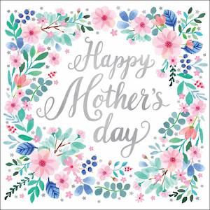 Mother's Day Card Floral Border