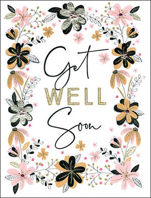 Jumbo Card Get Well Floral