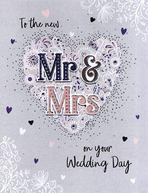 Jumbo Card Wedding Mr And Mrs