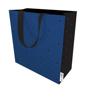 Small Gift Bag Quilted Navy