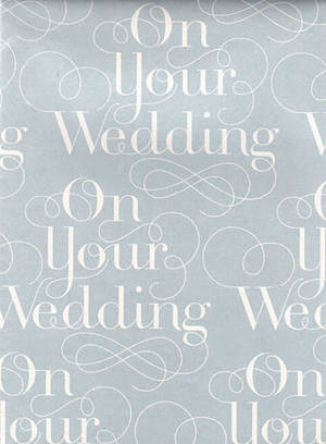 Folded Wrapping Paper On Your Wedding