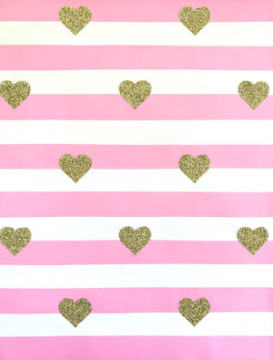 Folded Wrapping Paper Pink Stripe