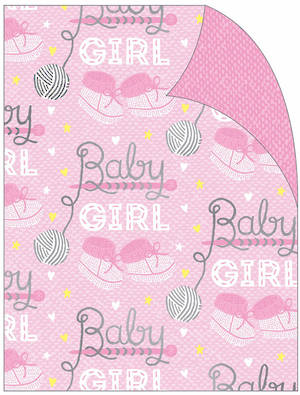 Folded Wrapping Paper Baby Girl Booties