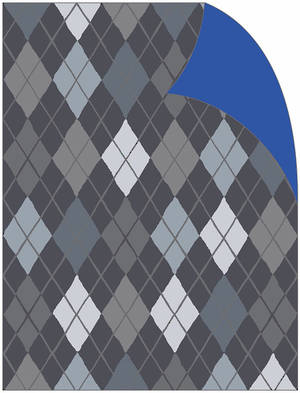 Folded Wrapping Paper Argyle Charcoal