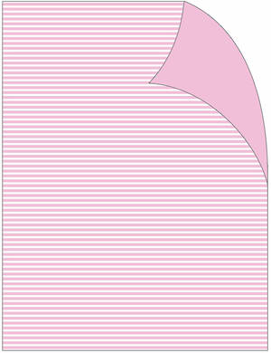 Folded Wrapping Paper Baby Girl Pink Stripe