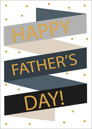 Father's Day Card Hombre Banner