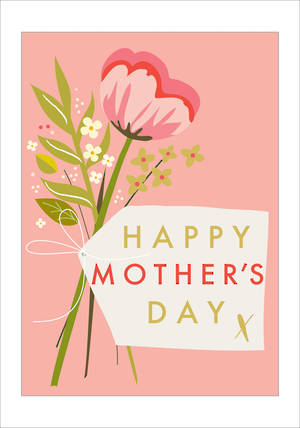 Mother's Day Card Mumderful Happy Bouquet