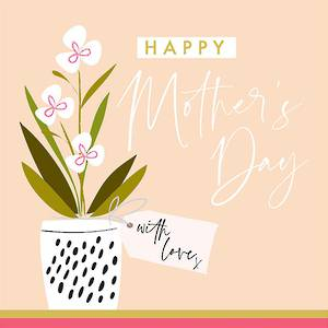 Mother's Day Card With Love Orchid