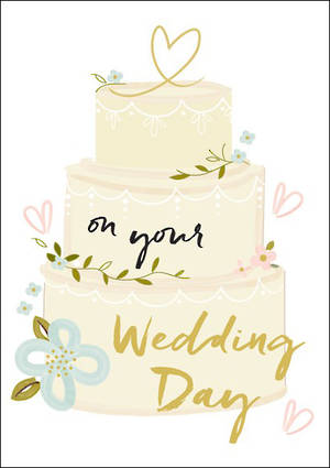 Wedding Card Tiered Cake