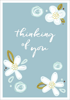 Sympathy Card Thinking of You Simple