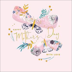 Mother's Day Card Amelie With Love Butterfly