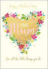 Mother's Day Card Thanks For All The Little