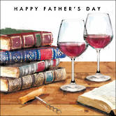 Father's Day Card Wine & Books