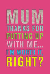 Mother's Day Card Hallmark Putting Up With Me