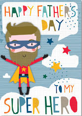 Father's Day Card Cut Out Super Hero