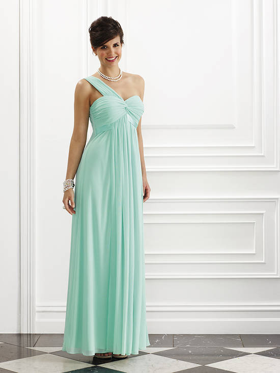 One shouldered full length grecian style gown - one only size 14