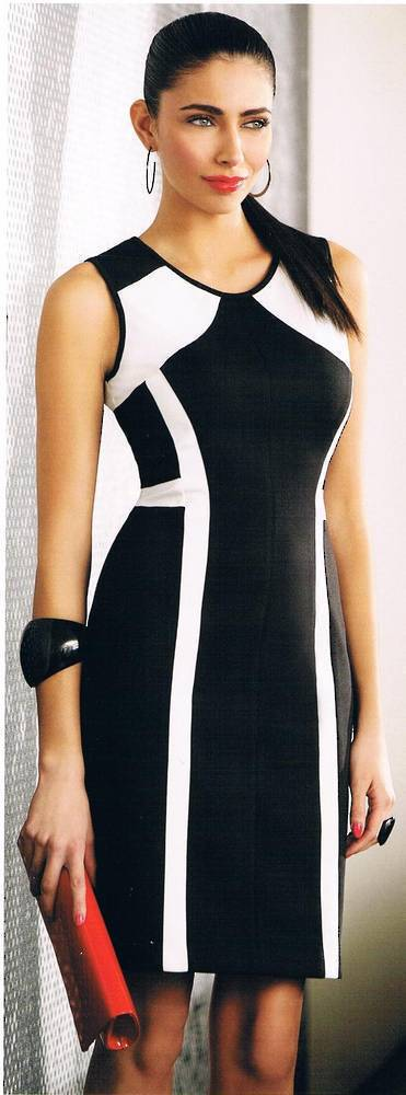 Black and winter white dress - one only size 6