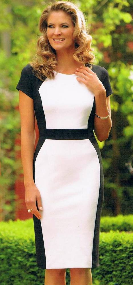 Black and cream dress - one only size 6