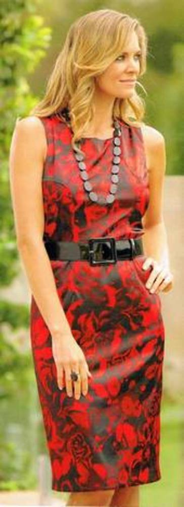 Ruby and black dress - size 6 only