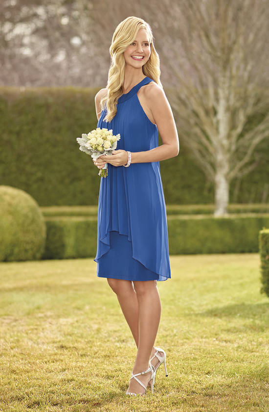 Jersey knit dress with chiffon overlay sizes 8 and 12 only
