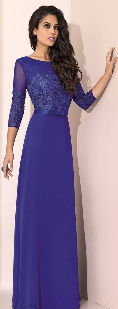 Royal blue full length gown - size 16 only