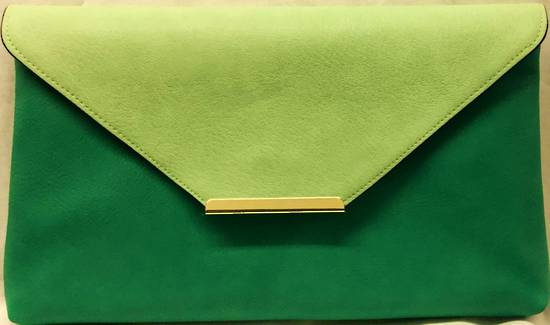 Mint/jade envelope clutch - one only