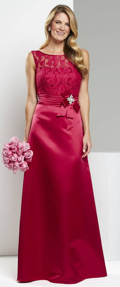 Satin and lace A line gown - size 8 only