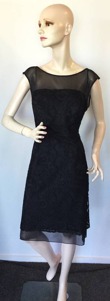 Lace and chiffon dress - size 14 only