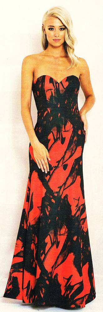 Full length strapless gown - one only size 12