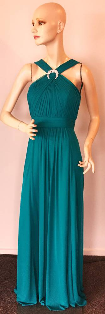 Full length gown with crossover neckline - one only size 10