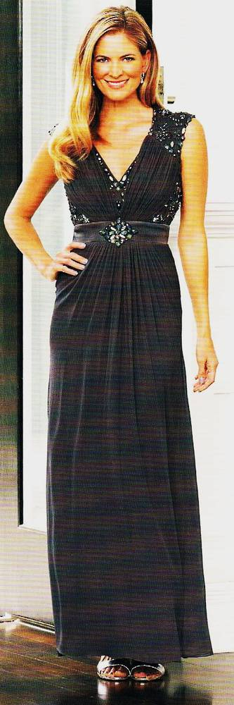 Full length Grecian gown - size 24 only