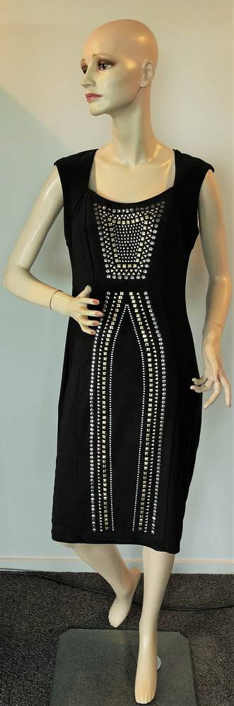 Black gold silver dress - size 10 only