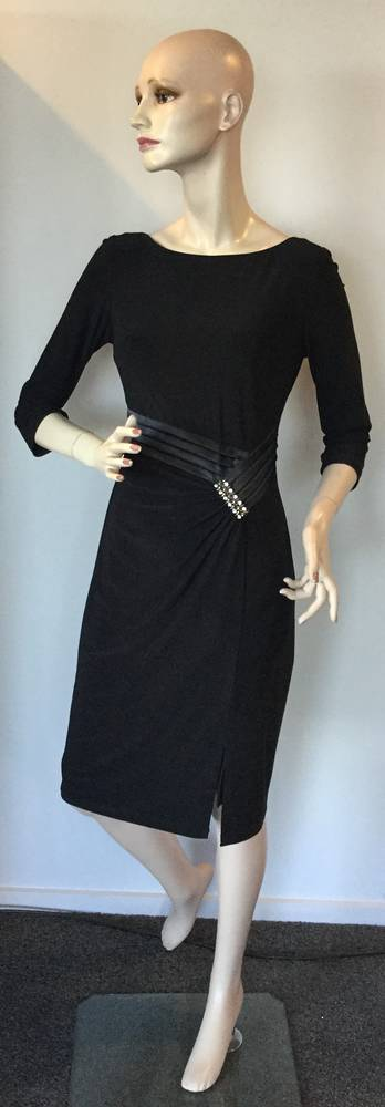 Black long sleeved dress - size 8 only