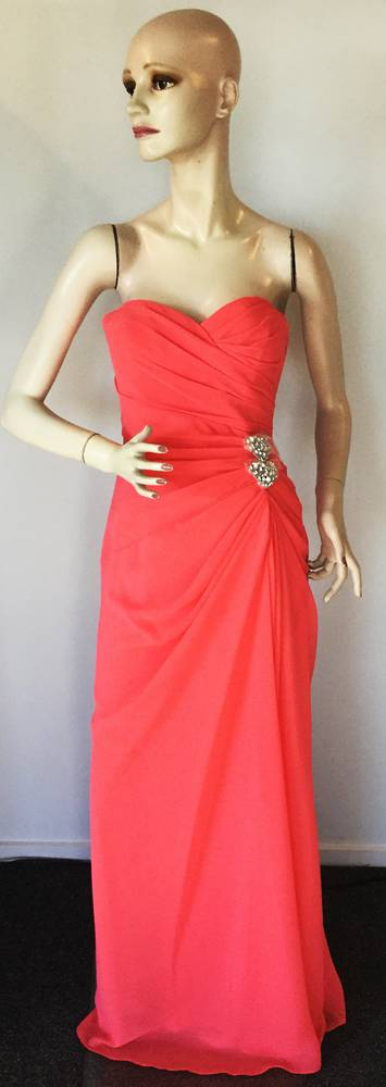 Strapless full length gown -  size 12 only
