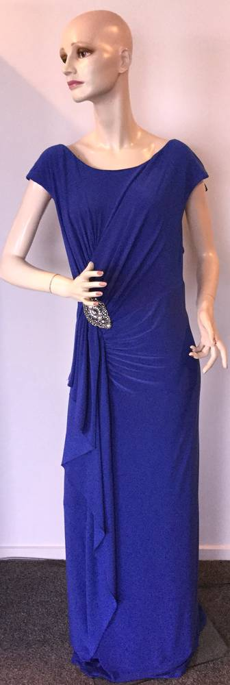 Royal blue full length gown - one only size 24