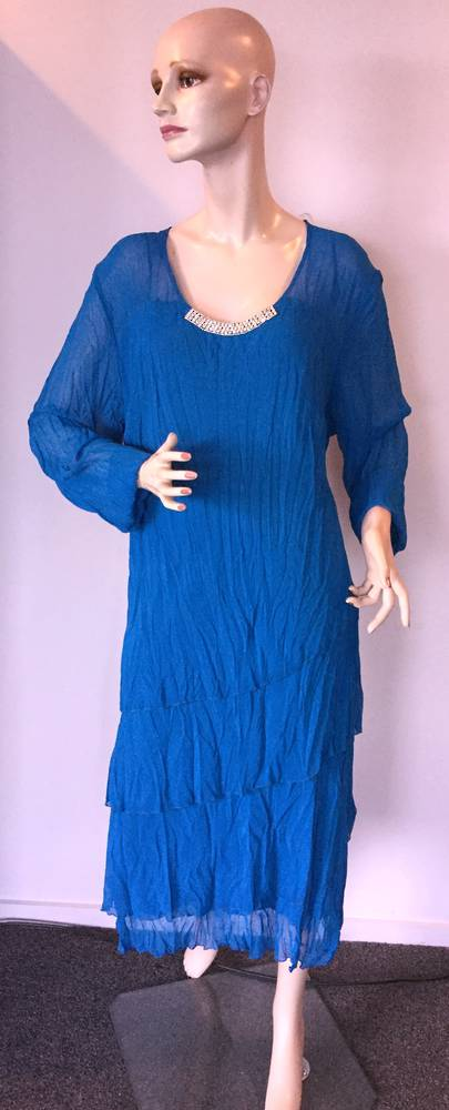 Blue chiffon dress - size 22 only