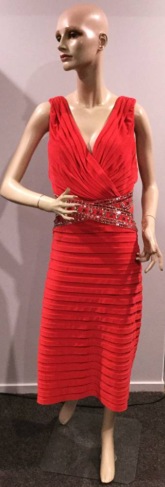 Pleated dress with beading - size 22 and 24 only